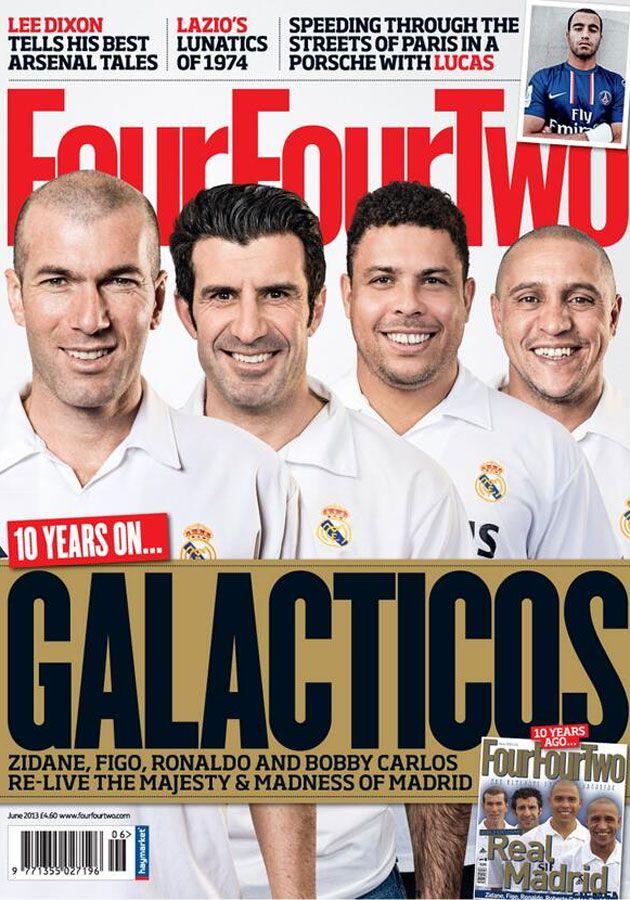 Zidane, Figo, Ronaldo y Roberto Carlos. Real Madrid. Cover. Los galácticos, una década después.