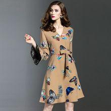 2017 primavera verão moda feminina plissada dress peito das mulheres sexy com decote em v party dress casual vestidos sólidos(China (Mainland))