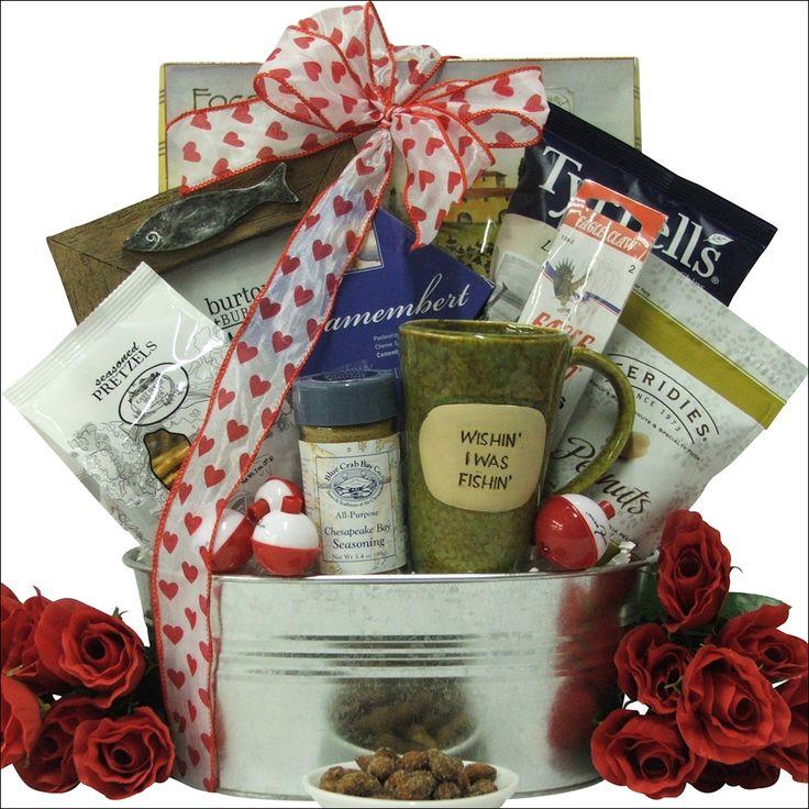 Best 25 fishing gift baskets ideas on pinterest men for Fishing gift box