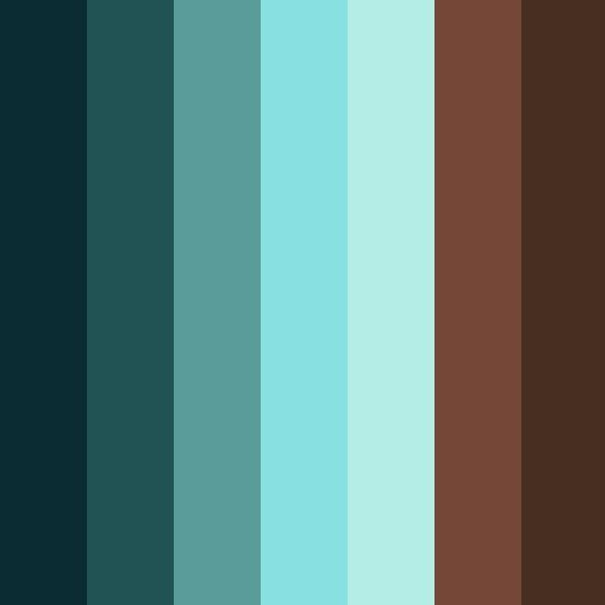 best 25 color palette blue ideas on pinterest blue With palette de couleur turquoise 5 shades of blue and brown color palette ideas