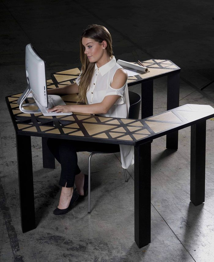 98 best bureau malin images on pinterest desks work spaces and board rooms. Black Bedroom Furniture Sets. Home Design Ideas