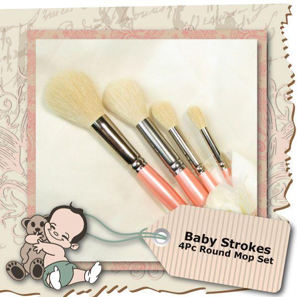 Baby Strokes 4 Piece Round Mop Set