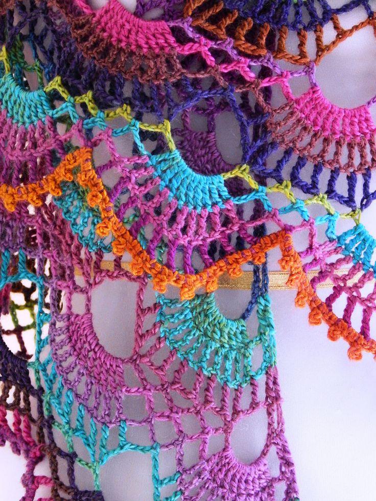 Ravelry: Nova Shawl pattern by Sara Kay Hartmann - not loving the colours but nice pattern