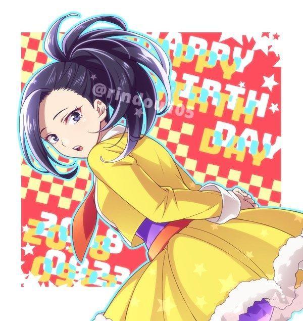 Happy Birthday Momo My Hero Academia My Hero Academia Hero My Hero