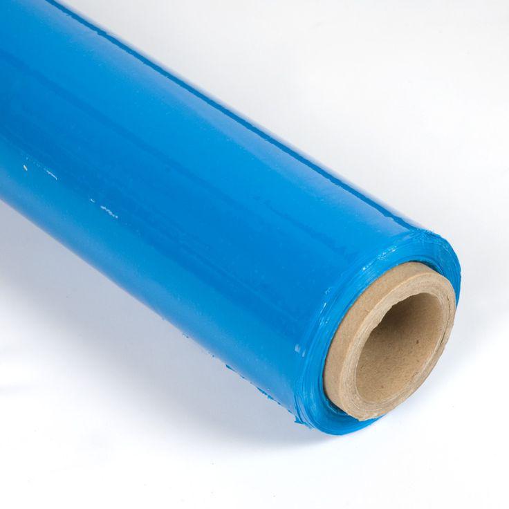 FILM DE PALETIZAR AZUL - El film de paletizar es una película de plástico retráctil perfecta para proteger y envolver objetos. Aquí lo encontrarás transparente, negro, blanco y azul.