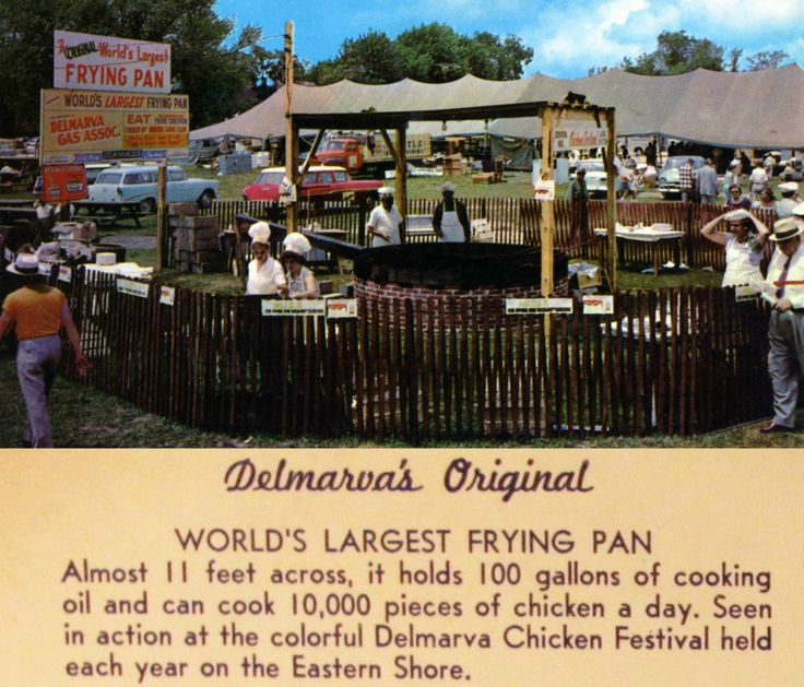 Giant frying pan was a staple of the Delmarva Chicken Festival.