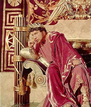 Caption: Peter Ustinov in Quo Vadis?