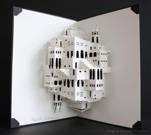 M.C. Escher pop-up book by Ingrid Siliakus