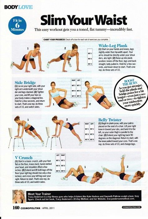 Stomach exercise in 6 min.