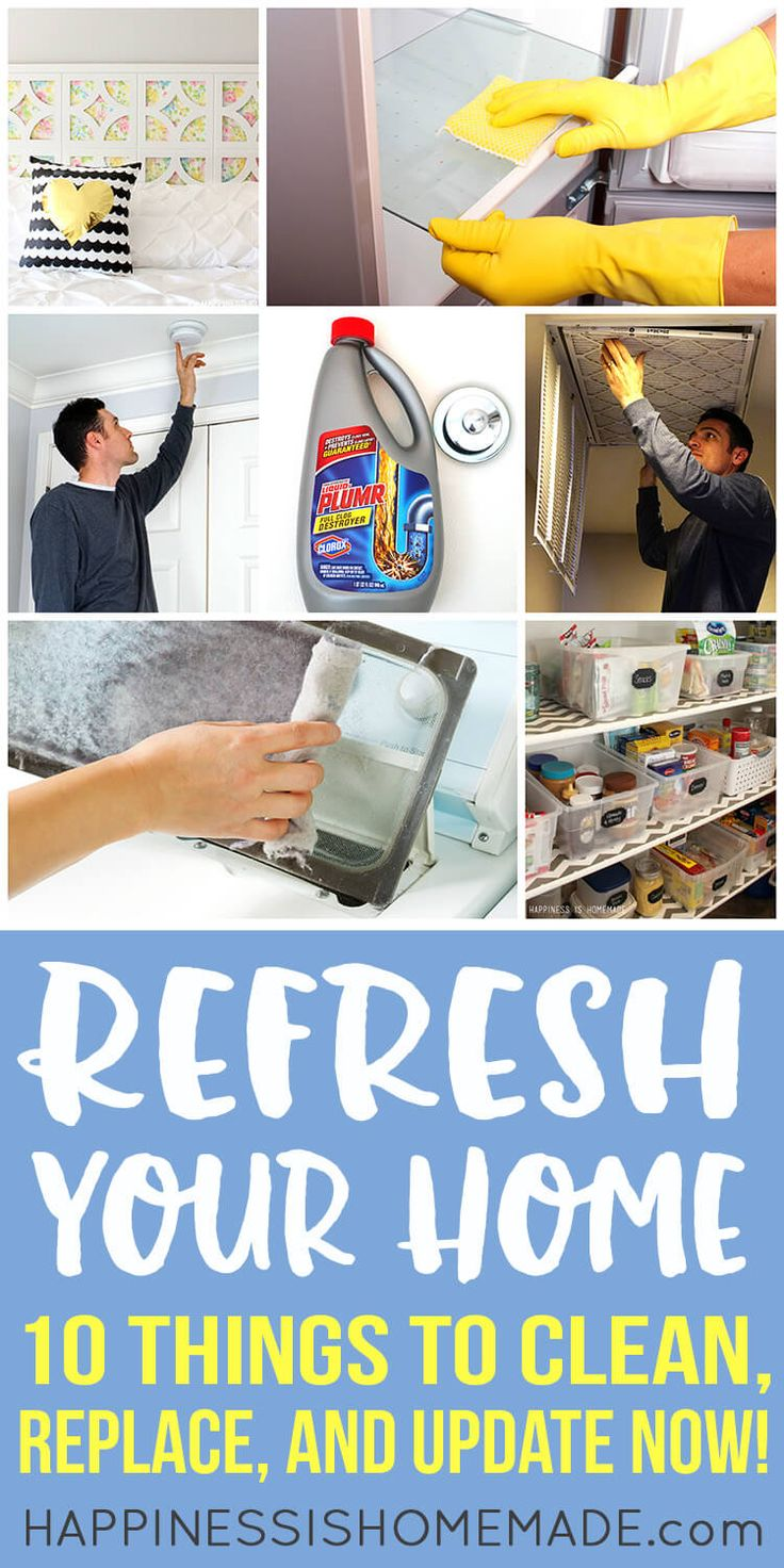 Refresh your home with these ten must-do things to clean, replace, and update right now! Give your home a fresh start for the new year! #NewYearWithLP #ad @LiquidPlumr