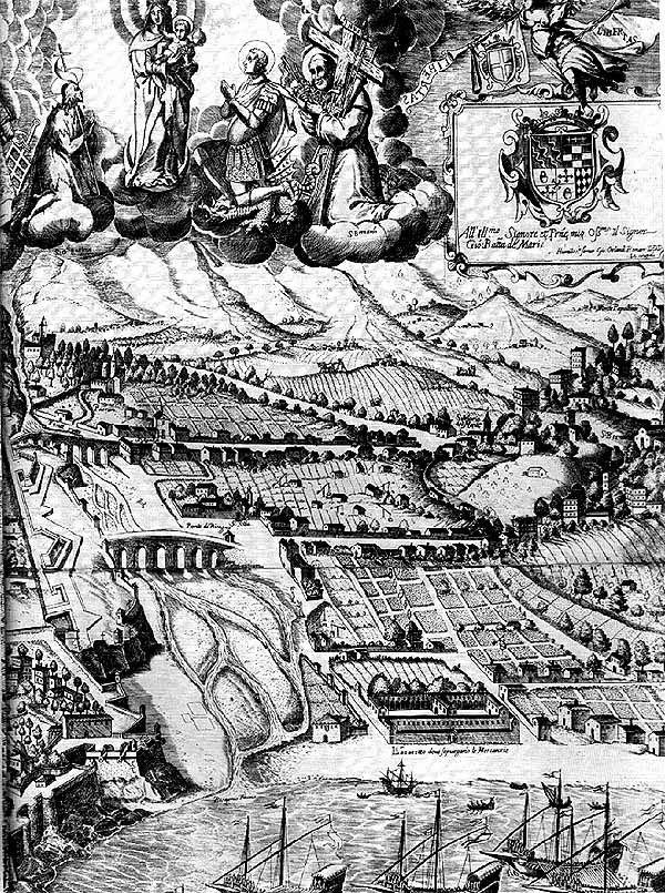 C'ERA UNA VOLTA GENOVA : Genova : il Bisagno nel 1637