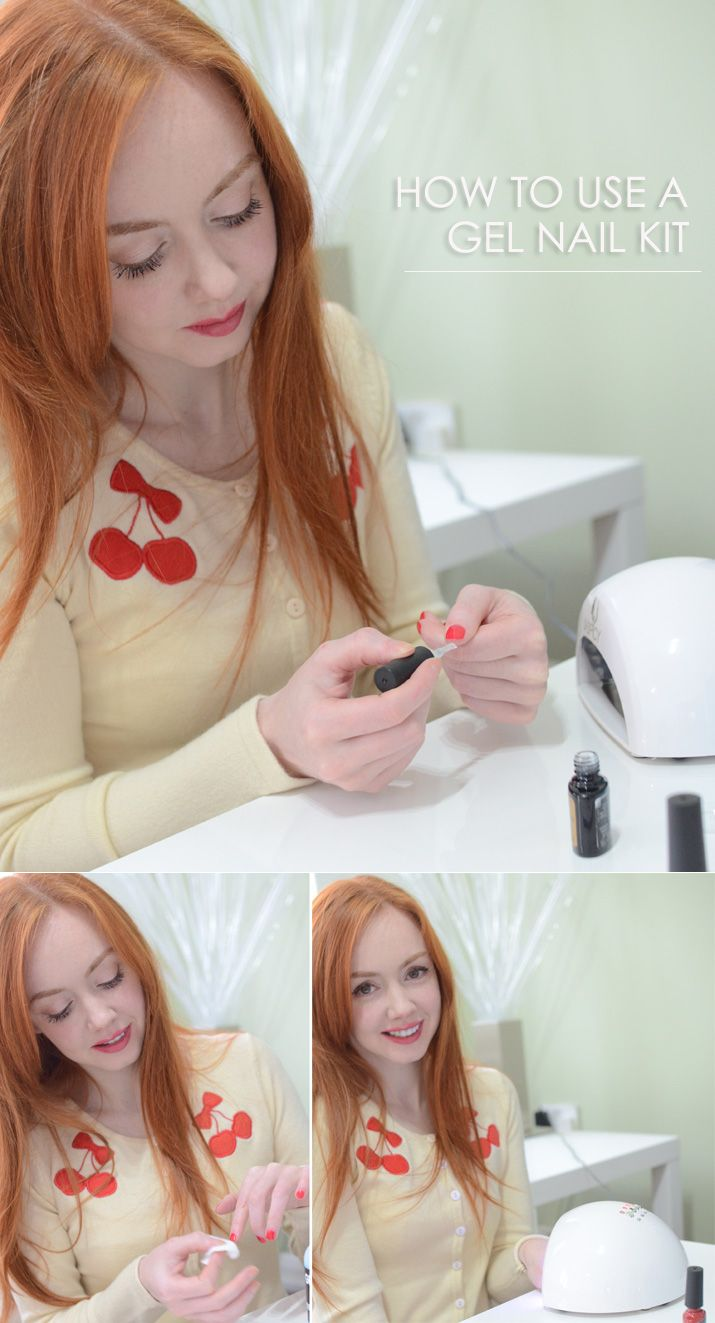 How to use a gel nail kit at home - www.ForeverAmber.co.uk