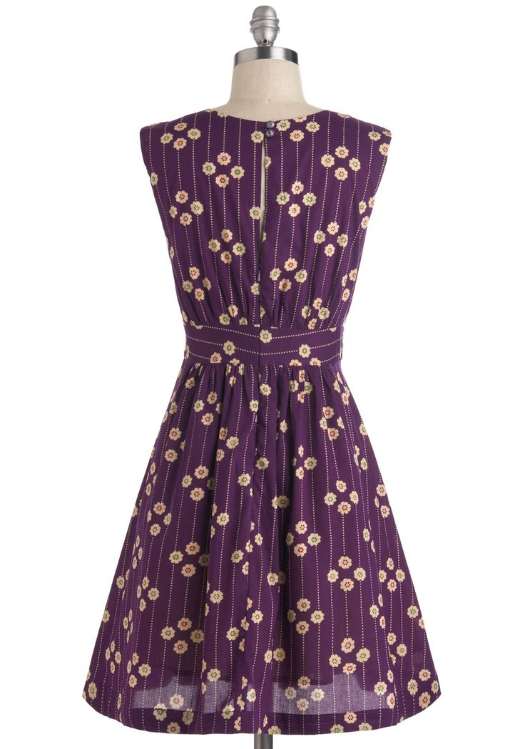 Emily and Fin Too Much Fun Dress in Plum Petunias | Mod Retro Vintage Dresses | ModCloth.com