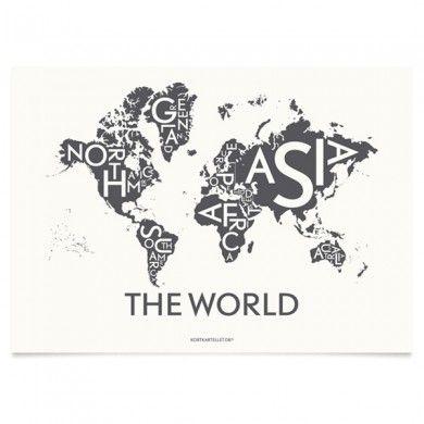 Affiche Monde Kortkartellet