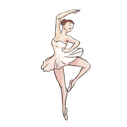 how to draw a ballerina for beginners