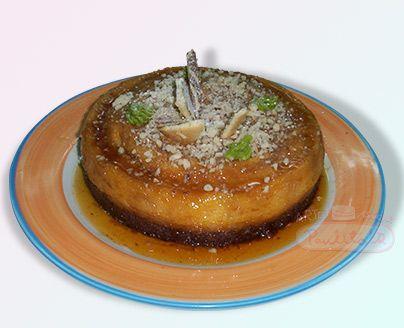 Delicioso Chocoflan, postre especial con torta de chocolate y flan de caramelo