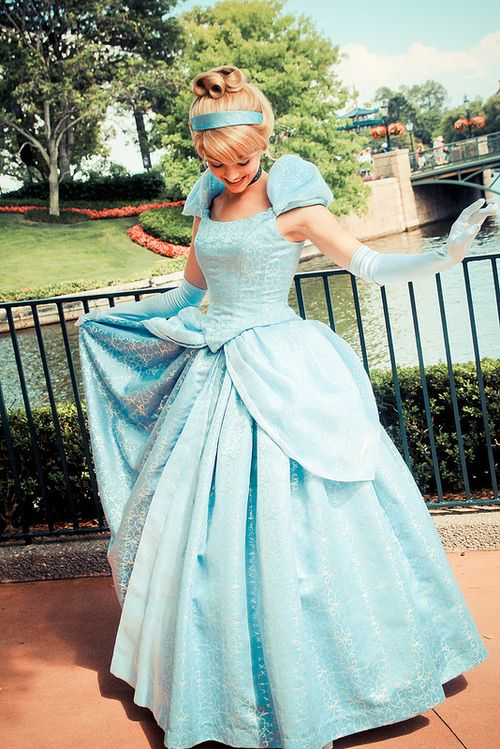 Beautiful pic of Cinderella. I wanna make that dress! Have the perfect fabric... :)
