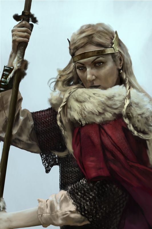 Hreðe is a warrior goddess, who gave her name to the month Hreðemonað, the Anglo-Saxon name for March. This is the time when winter is making its stormy transition into spring. This pic is actually of Ðryð(Þruðr), daughter of Ðunor(Þorr), but it is my UPG, that Ðryð and Hreðe are one and the same.