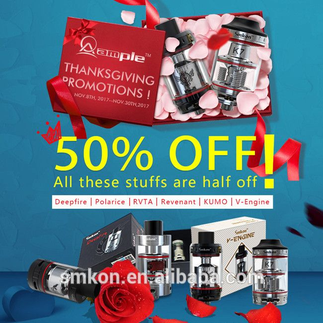 electronic cigarette 50% OFF V Engine Sub Ohm tank original from Ample
