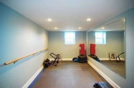 basement ballet ideas barre yoga room in 2020