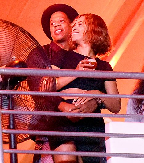 Jay Z and Beyonce attend the Made in America Music Festival during day 2 at Los Angeles Grand Park