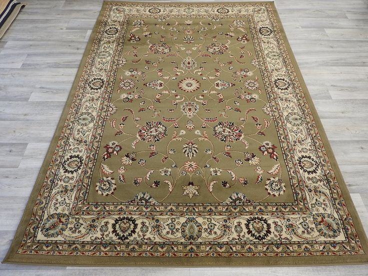 Cool Olive Traditional Turkish Rug Size: 160 x 230cm