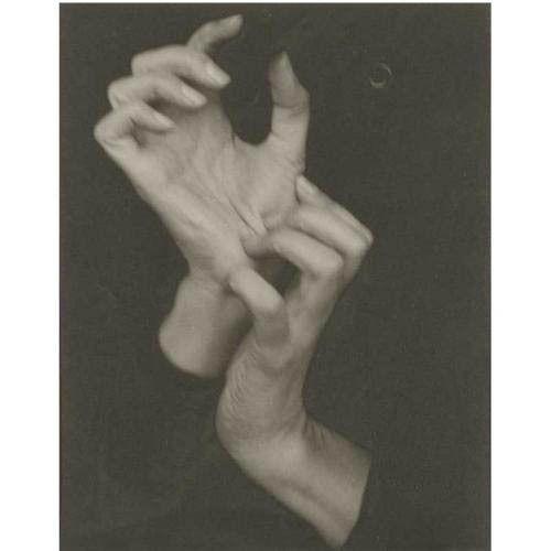 5. Georgia O'Keeffe (Hands) (1919) By: Alfred Stieglitz