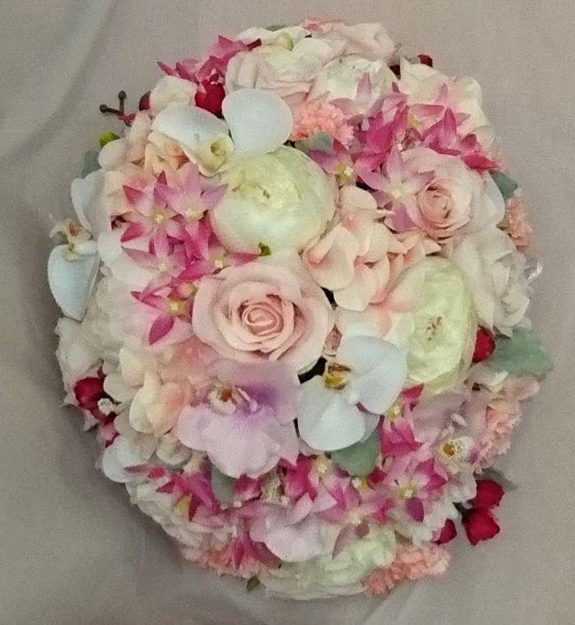 粉紅色 結婚車花佈置 – elaine floral