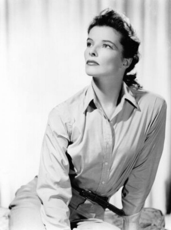 The one and only Katharine Hepburn wearing a mens shirt before it was cool to wear a mens shirt.