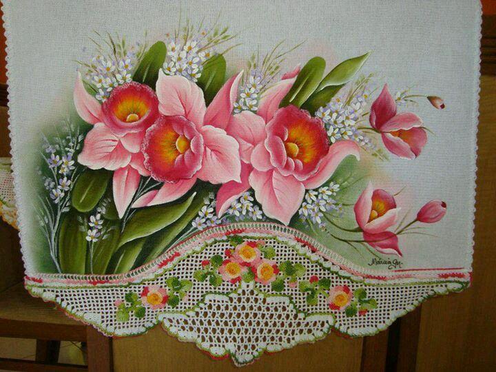 501 best images about pintura en tela manteles caminos - Manteles para mesa ...