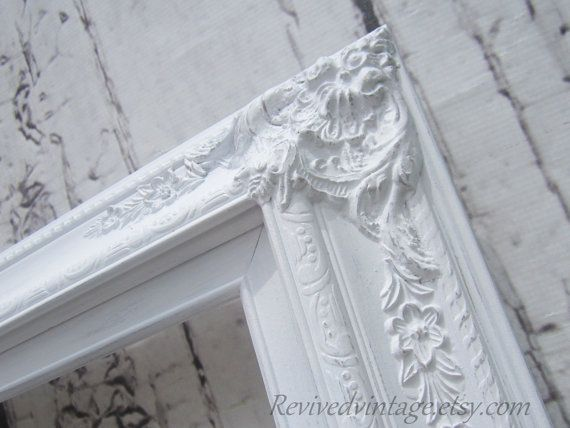 WEDDING PORTRAIT FRAME For Sale White Shabby Chic Picture Frames  20x24 MaNY SiZES- Photography Prop Vanity Mirror Frame Baroque Victorian