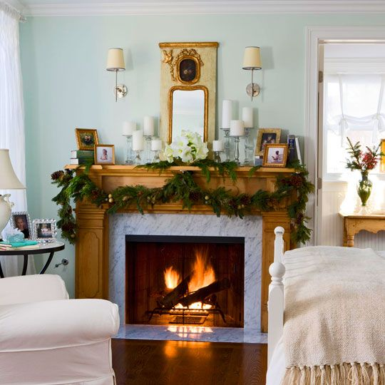 Decorating holiday mantels traditional home christmas pinterest Traditional home decor pinterest