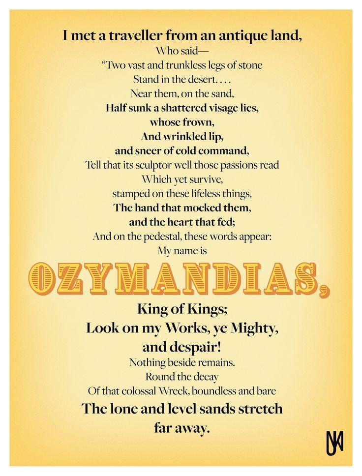 De 25+ bedste idéer til Ozymandias poem på Pinterest