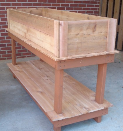 Cedar plank herb garden instructions