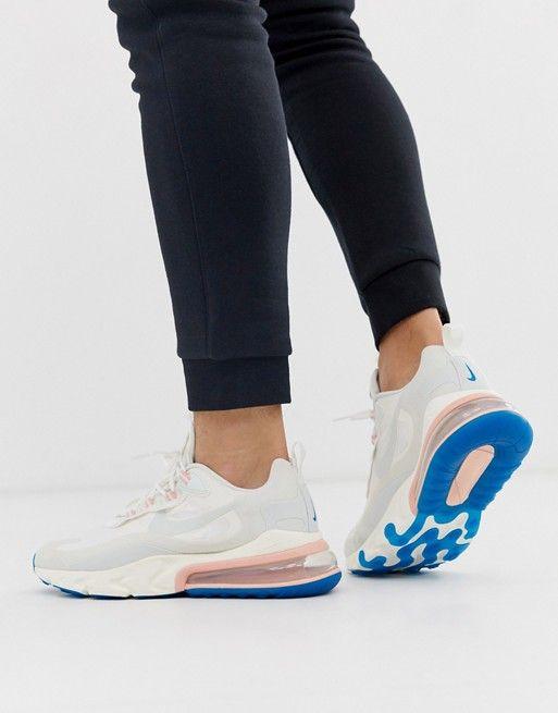 Talla salida Aturdir  Nike Air Max 270 React sneakers in white | ASOS | Nike, Nike air max, Air  max 270