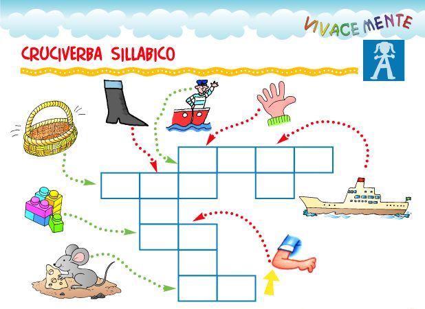Risultati immagini per scheda cruciverba sillabico per for Cruciverba per bambini con soluzioni