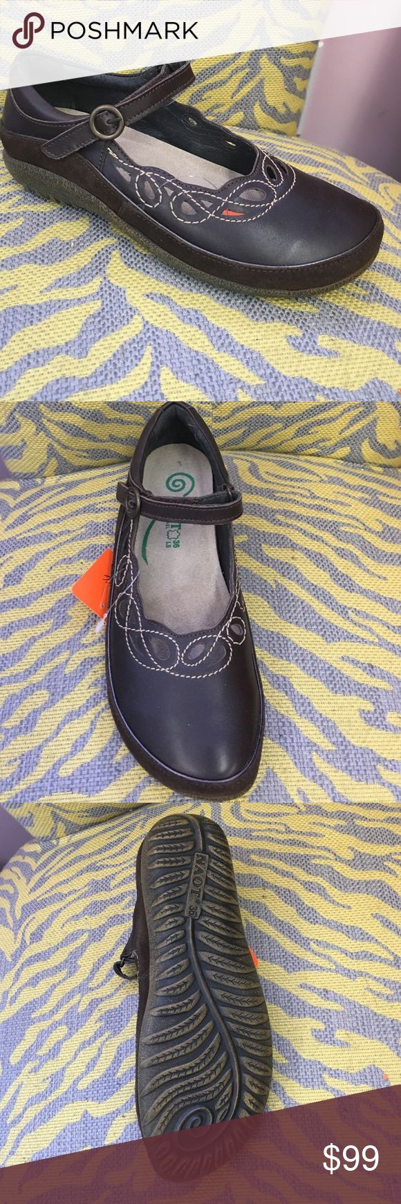 Naot shoes Brown new in box size 36 Naot shoes Naot Shoes