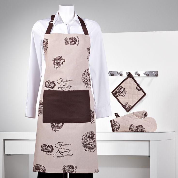 Delantal, paño para el horno y manopla. www.sancarlos.es