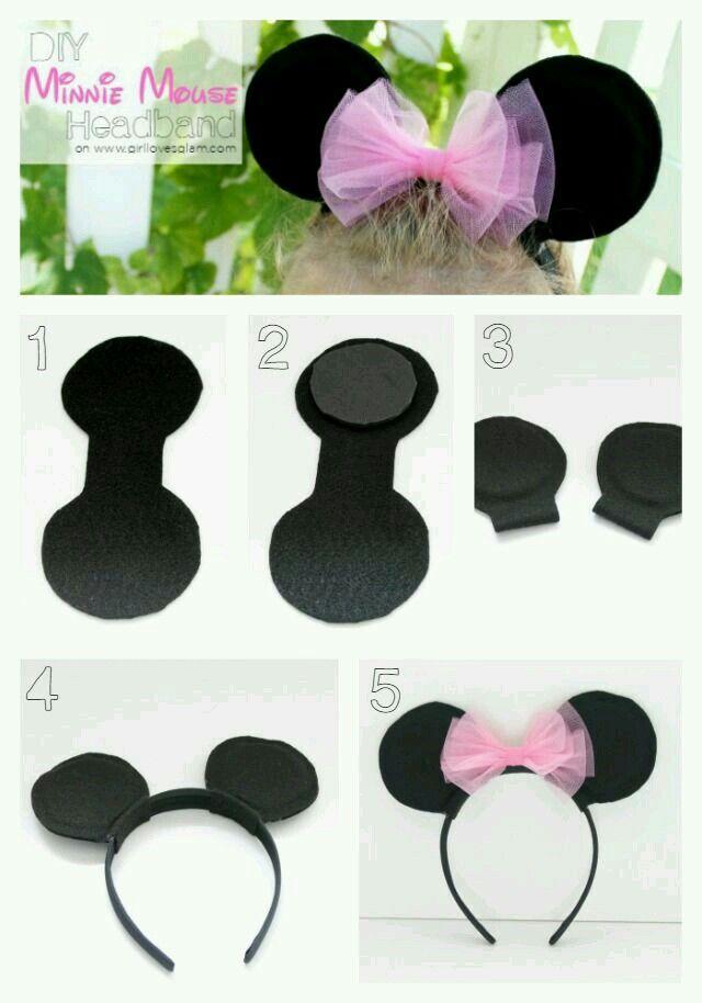 Orejas de minni y mickey mouse
