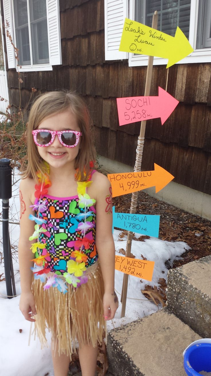 My daughter's 6th birthday  Winter Luau in January. We turned up the heat and played calypso music!