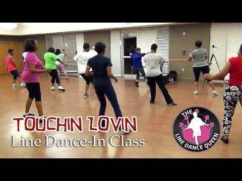 Touchin Lovin Line Dance-The Line Dance Queen & Class - YouTube