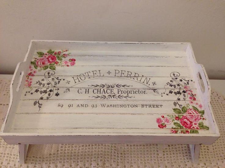 M s de 25 ideas incre bles sobre bandejas en pinterest for Bandejas de madera decoradas