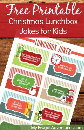 free printable lunchbox jokes for Christmas! So fun and the kids will love these!