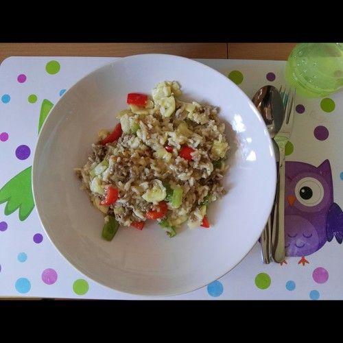 Zucchini - Reis - Hackfleisch - Pfanne