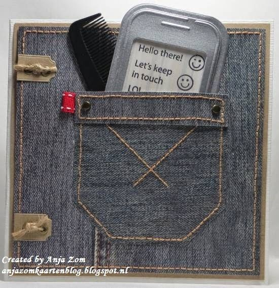 Card made by DT member Anja with Collectables Smart Phone (COL1359) by Marianne Design