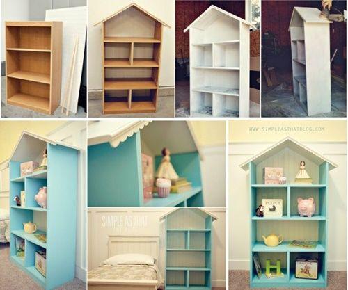 How to DIY DollHouse Bookcase | www.FabArtDIY.com
