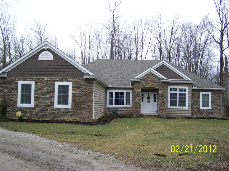 Stone Front Log Look Vinyl Siding Cedar Shake In The