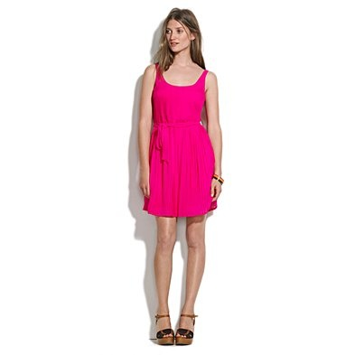 madewell pleated dress: Hot Pink Dresses, Silk Pleated, Pleated Dresses, Silk Slideshow, Madewell Lif, Madewell Pleated, Madewell Silk, Dresses Lov Color, Coral Dresses