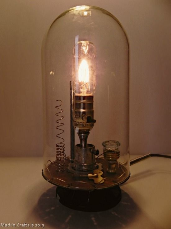 Anthro inspired inventors bell jar lamp