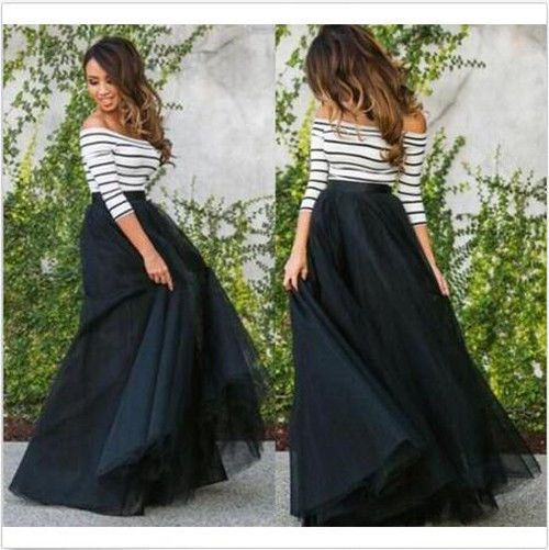 4 Layers Tulle Length 100Cm Women Long Tulle Skirt Puffy Princess Party Skirts